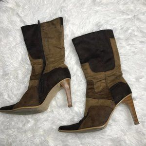 Charles Albert Brown Faux Suede Boots size 6